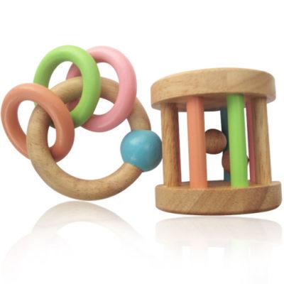 lục lạc đồ chơi gỗ cho bé