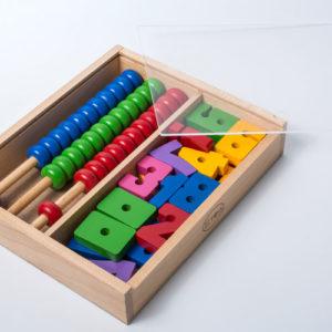 đồ chơi gỗ bảng tính montessori