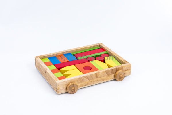 `đồ chơi gỗ block xây nhà cho bé