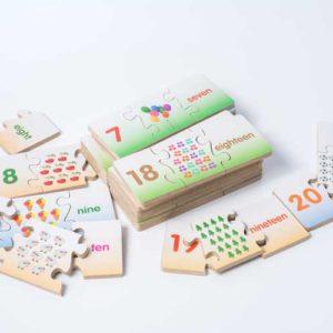 đồ chơi gỗ bảng chữ số bé học đếm số