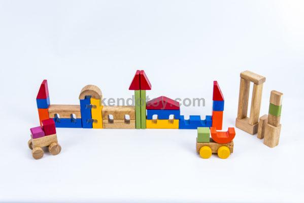 đồ chơi xếp hình gỗ bộ xếp hình lâu đài