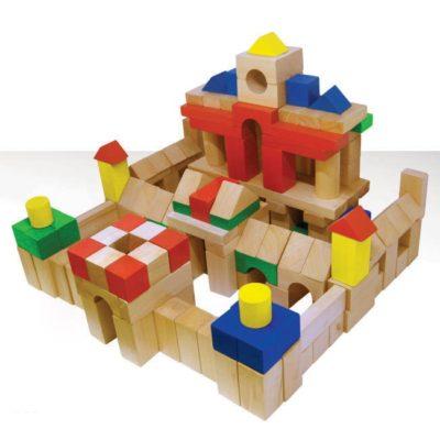 đồ chơi xếp hình gỗ 100 chi tiết