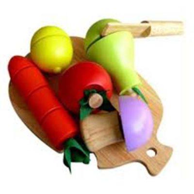 bộ cắt 5 loại trái cây đồ chơi nấu ăn