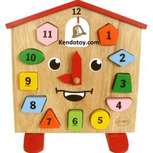 đồ chơi gỗ đồng hồ kingkong