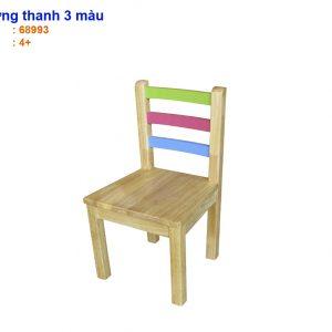 ghế lưng thanh 3 màu bằng gỗ