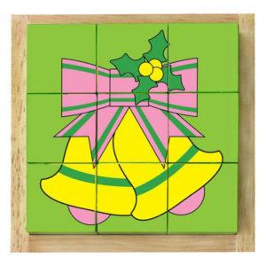 đồ chơi gỗ xếp hình khối Noel