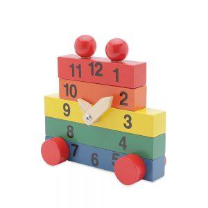 đồ chơi gỗ đồng hồ lắp ráp