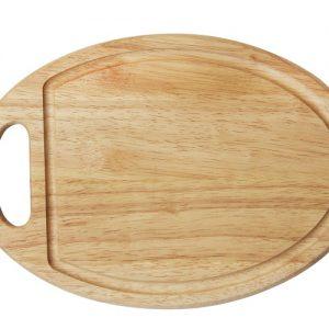 thớt gỗ oval có rãnh