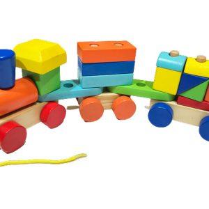 Xe lửa ba toa đồ chơi gỗ