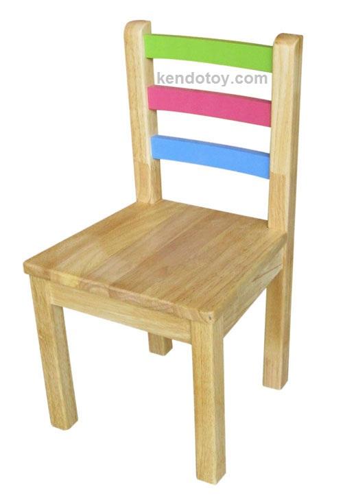 đồ chơi gỗ ghế lưng thanh ba màu