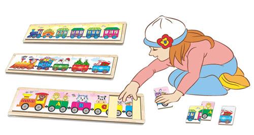 đồ chơi gỗ bộ ba xe lửa