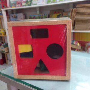 đồ chơi gỗ hộp thả khối cho bé