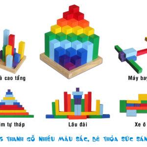 đồ chơi gỗ tháp diamond