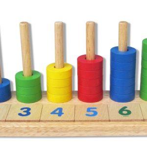 đồ chơi gỗ học đếm bậc thang