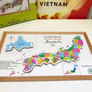 Bản đồ Nhật Bản bằng gỗ