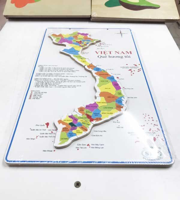 Bản đồ Việt Nam bằng gỗ