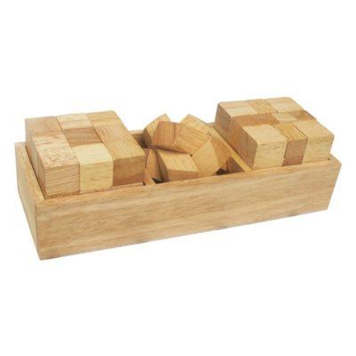 đồ chơi gỗ bộ ba thách thức cho bé
