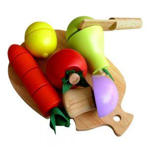 Đồ chơi cắt trái cây gỗ