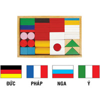đồ chơi xếp hình cờ các quốc gia