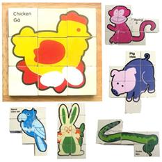 đồ chơi gỗ bộ ghép hình 6 thú