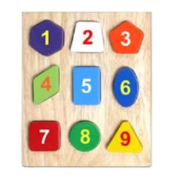đồ chơi gỗ bộ xếp hình 9 hình