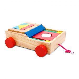 Bộ xếp hình 25 chi tiết đồ chơi gỗ