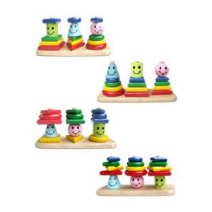 đồ chơi giáo dục mầm non xếp hình 3 trụ