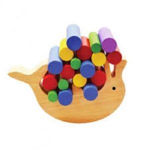 đồ chơi gỗ cá heo cân bằng