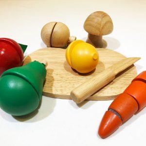 Bộ cắt rau củ 6 loại bằng gỗ