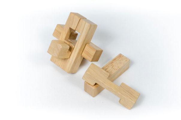đồ chơi gỗ trí tuệ 6 thanh lắp ráp