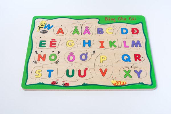 đồ chơi gỗ bảng chữ cái tiếng việt