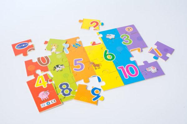 đồ chơi gỗ bé vui học chữ số lắp ghép