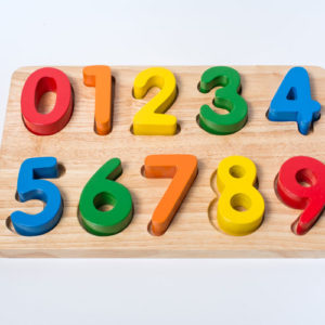đồ chơi gỗ bảng nhận hình số