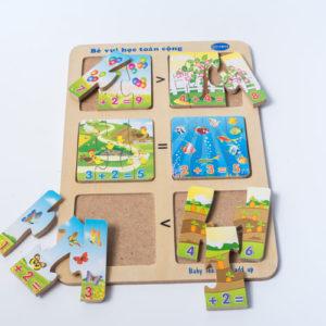 đồ chơi gỗ bé vui học toán cộng