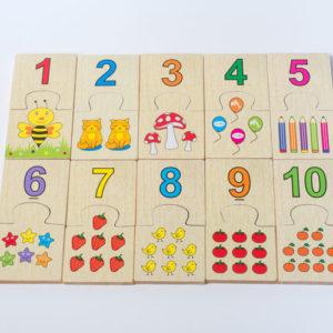 đồ chơi gỗ bảng ghép số và học đếm