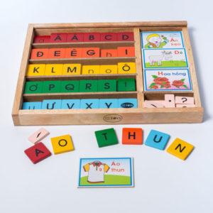 đồ chơi giáo dục bộ học vần