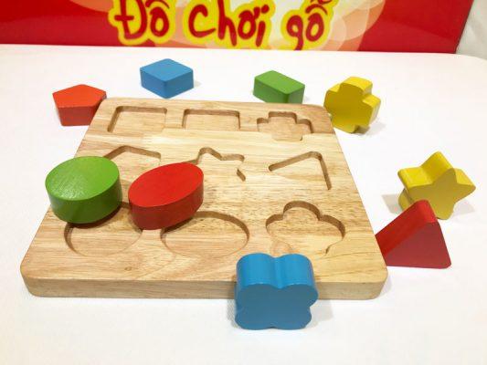 Bảng nhận 9 hình đồ chơi gỗ