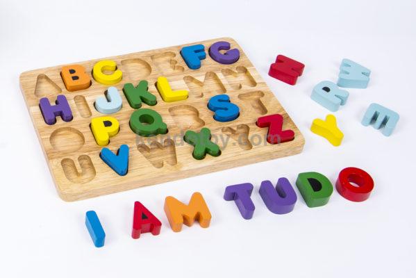 đồ chơi gỗ bảng chữ cái tiếng anh cho bé