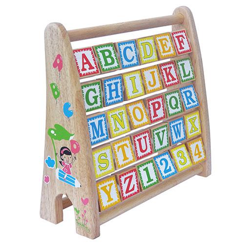 đồ chơi gỗ bảng chữ cái tiếng anh