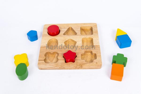 đồ chơi gỗ bảng nhận hình