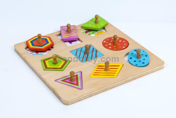Đồ chơi nhận hình bé học hình học