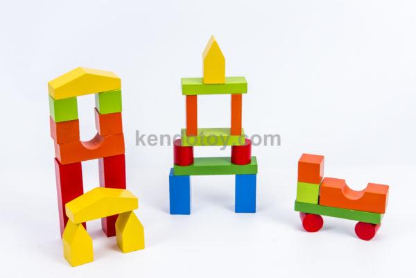 đồ chơi gỗ block xây nhà cho bé