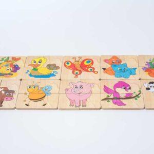 đồ chơi gỗ bộ ghép hình 10 con vật