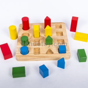 đồ chơi gỗ bộ hình học giảm dần