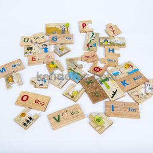 đồ chơi gỗ bộ tìm 24 cặp phù hợp