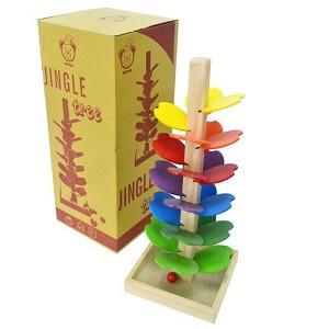 cây thông vui vẻ đồ chơi bằng gỗ