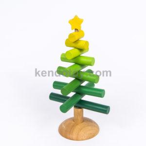 đồ chơi gỗ cây thông xoay