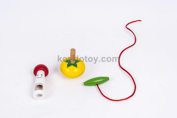 đồ chơi gỗ con quay hình nấm