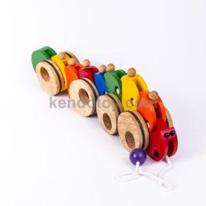 đồ chơi trẻ em xe kéo con sâu