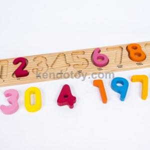 đồ chơi gỗ bảng chữ số